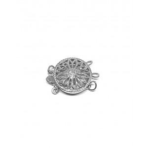 Sterling Silver 925 Filigree 3 strand Pearl Clasp