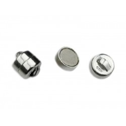 Sterling Silver 925 Squat Barrel Magnetic Clasp 6mm