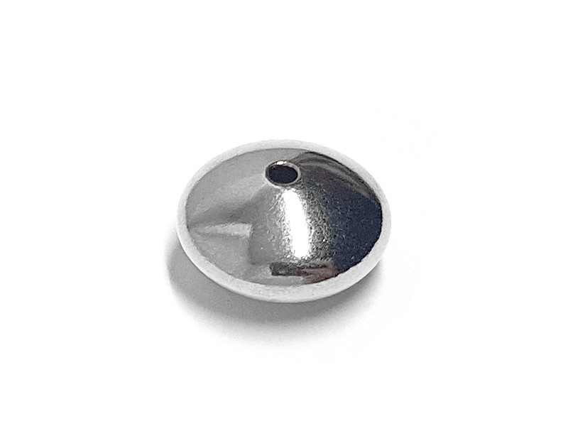 Sterling Silver 925 Saucer bead 6mm