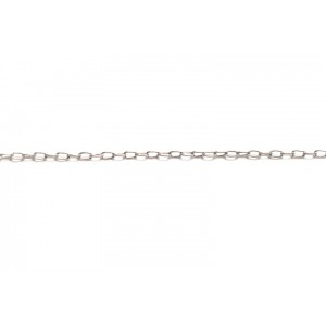Sterling Silver 925 Fine Drawn Cable Link Chain, 2.2 x 1.2 mm (60)