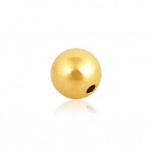 18K Yellow Gold Round Bead 3mm