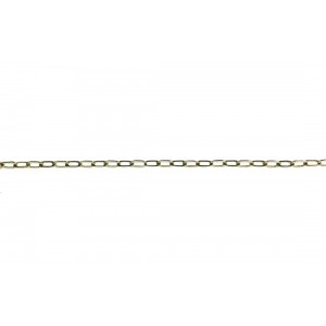 Sterling Silver 925 Oval Cable Chain, 1.6 x 3.5mm, wire 0.3mm (60)