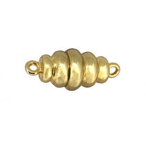 Sterling Silver 925 Gold Plated Cone Magnetic Clasp 9mm x 14mm