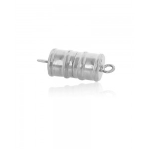Sterling Silver 925 Magnetic Tube Clasp 6mm x 12mm