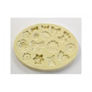 PMC Flexible Mould with multiple designs - MINI FLOWERS & BOWS