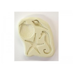 PMC Flexible Mould with 4 designs - SEASHORE