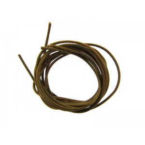 Pre-cut Leather Thong 1.6mm, brown color - 2.0mm x 100cm