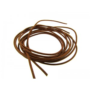 Pre-cut Leather Thong 1.6mm, red-brown color - 2.0mm x 100cm