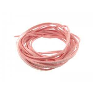 Pre-cut Suede Leather Thong, light pink color 3mm x 90cm