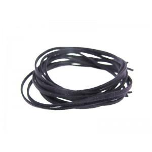 Pre-cut Suede Leather Thong, dark purple color 3mm x 90cm