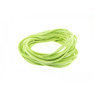 Pre-cut Suede Leather Thong, light green color 3mm x 90cm