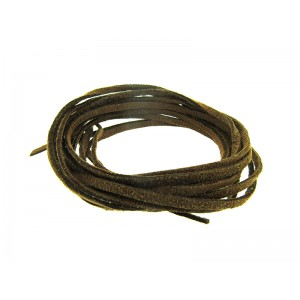 Pre-cut Suede Leather Thong, dark brown color 3mm x 90cm