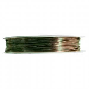 Artistic Wire, 18 Gauge (1.0 mm), Antique Brass, 10 yd (9.1 m)