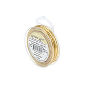 Artistic Wire, 18 Gauge (1.0 mm), Tarnish Resistant Brass, 10 yd (9.1 m)