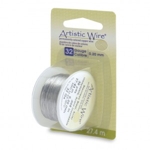 Artistic Wire, 32 Gauge (.20 mm), Stainless Steel, 30 yd (27.4 m)