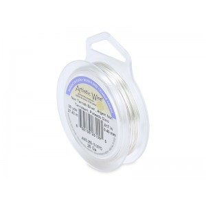 Artistic Wire, 26 Gauge (.41mm), Silver Plated, Tarnish Resistant Silver, 30 yd (27.4 m)