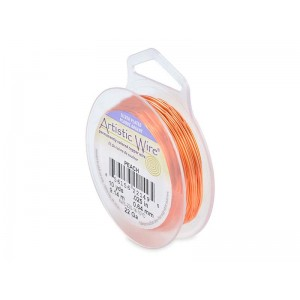 Artistic Wire, 22 Gauge (.64mm), Silver Plated, Peach, 10 yd (9.1 m)g