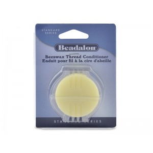 Bees Wax, 0.43 oz (12.3 g) for waxing cords, lubricating sawblades BEADALON