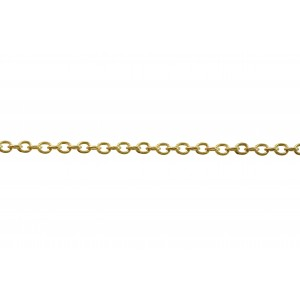 Brass Oval Trace Chain 2.5mm x 3.3mm, wire 0.6mm + E Coating