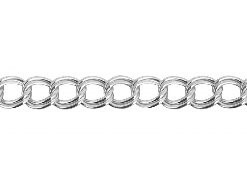 Sterling Silver 925 Twin Curb Chain