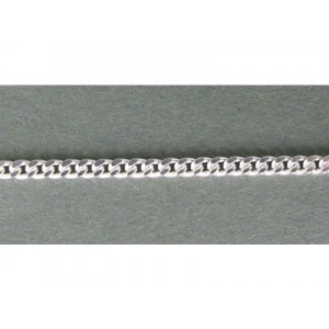 Sterling Silver 925 Flat Chunky Curb Chain 2.4mm, 1.2mm thickness Curb