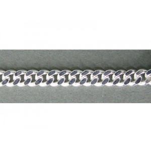 Sterling Silver 925 Flat Chunky Curb Chain 4.00mm, 1.6mm thickness