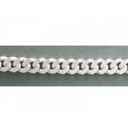 Sterling Silver 925 Flat Chunky Curb Chain 5.2mm, 1.6mm thickness