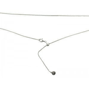 Sterling Silver 925 Adjustable Box Chain 1.2mm with Slider Bead 5mm, max 22''