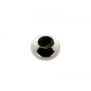 Sterling Silver 925 Donut Slider Bead 6mm, hole 2mm