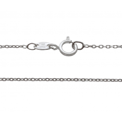 Ready Made Sterling Silver 925 Fine Diamond Cut Trace Chain, 16'' (Pack of 3)