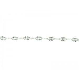 "Sterling Silver 925 Fancy Crinkled ""Clover"" Link Chain - 3.4mm"