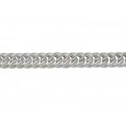 Sterling Silver 925 HOLLOW Tight Woven Curb Chain - 5.7mm