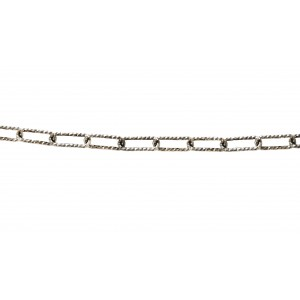 S925 DIAMOND CUT CABLE CHAIN 11.3 X 4.3 MM (1MM ROUND WIRE)