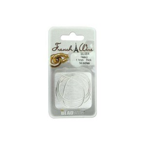 FRENCH WIRE SILVER HEAVY 1.1MM