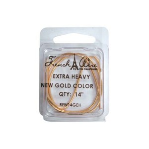 FRENCH WIRE GOLD EXTRA HEAVY 1.8MM