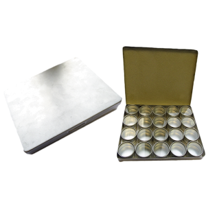 Aluminium Storage 14.5cm x 16.5cm with 20 boxes 30mm x 18mm