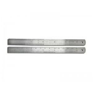Pack of 2 Metal Rulers 6''