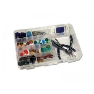 Plastic organiser box 10.75'' x  7'' x 1.75''