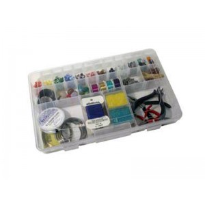 Plastic organiser box 14'' x 9'' x 1 - 7/8''