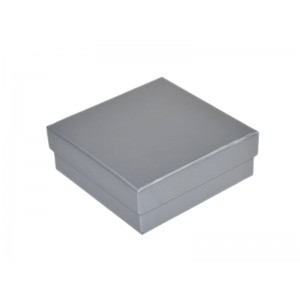 2-PIECE PLAIN SILVER CARDBOARD UNIVERSAL BOX, 90x90x33mm