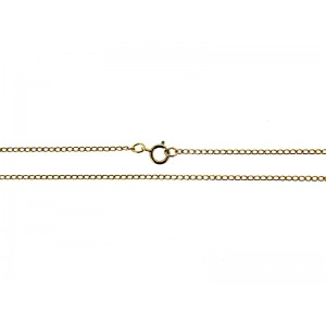 Ready Made Gold Filled Round Curb Chain with 5mm bolt ring 18''