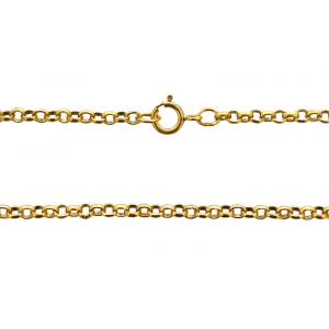 "14K Gold Filled READY MADE 16"" ROUND ROLO CHAIN 2.4mm"