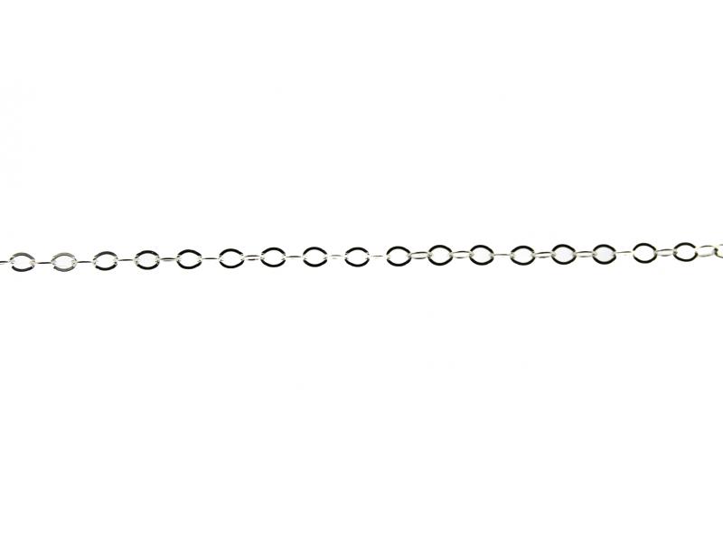 S925 FLAT OVAL CHAIN (1.7x2.3mm)  S1218F