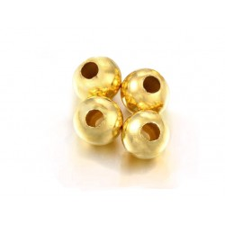 PACK OF, 14K G.F ROUND BEAD (8.0 mm)