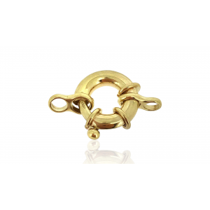 9KT WHITE GOLD 16mm LARGE BOLT RING W/JR