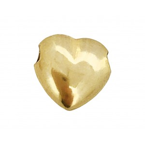 9K Yellow Gold Heart Bead 11mm