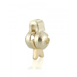 9K Yellow Gold Mini Roller Catch For Brooches
