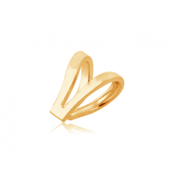 9K Yellow Gold Double Loop Bail 4.5mm