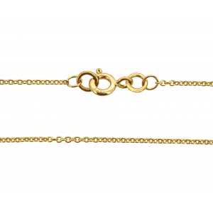 9K Yellow Gold Ready Made Fine Trace Chain 1.2mm 16'' w/ 5mm Bolt Ring