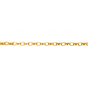 9K Yellow Gold Oval Rolo Chain 2.8mm x 1.85mm